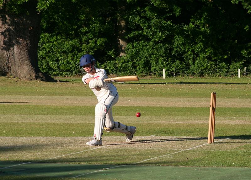 Batsmen build a good total