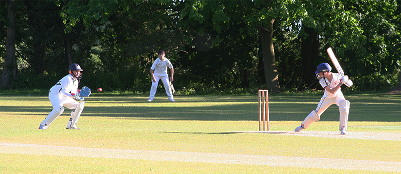 Out! Wicket keeper takes a catch of the edge.